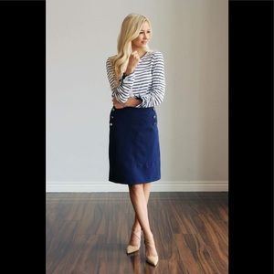 🌸Anthropologie Della Bee Buttoned Pencil Skirt 🌸